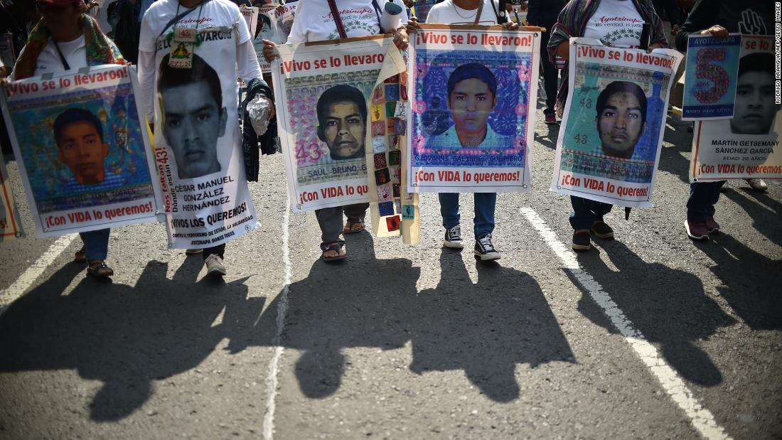 The remains of one of the 43 students who went missing more than five years ago have been identified in Mexico
