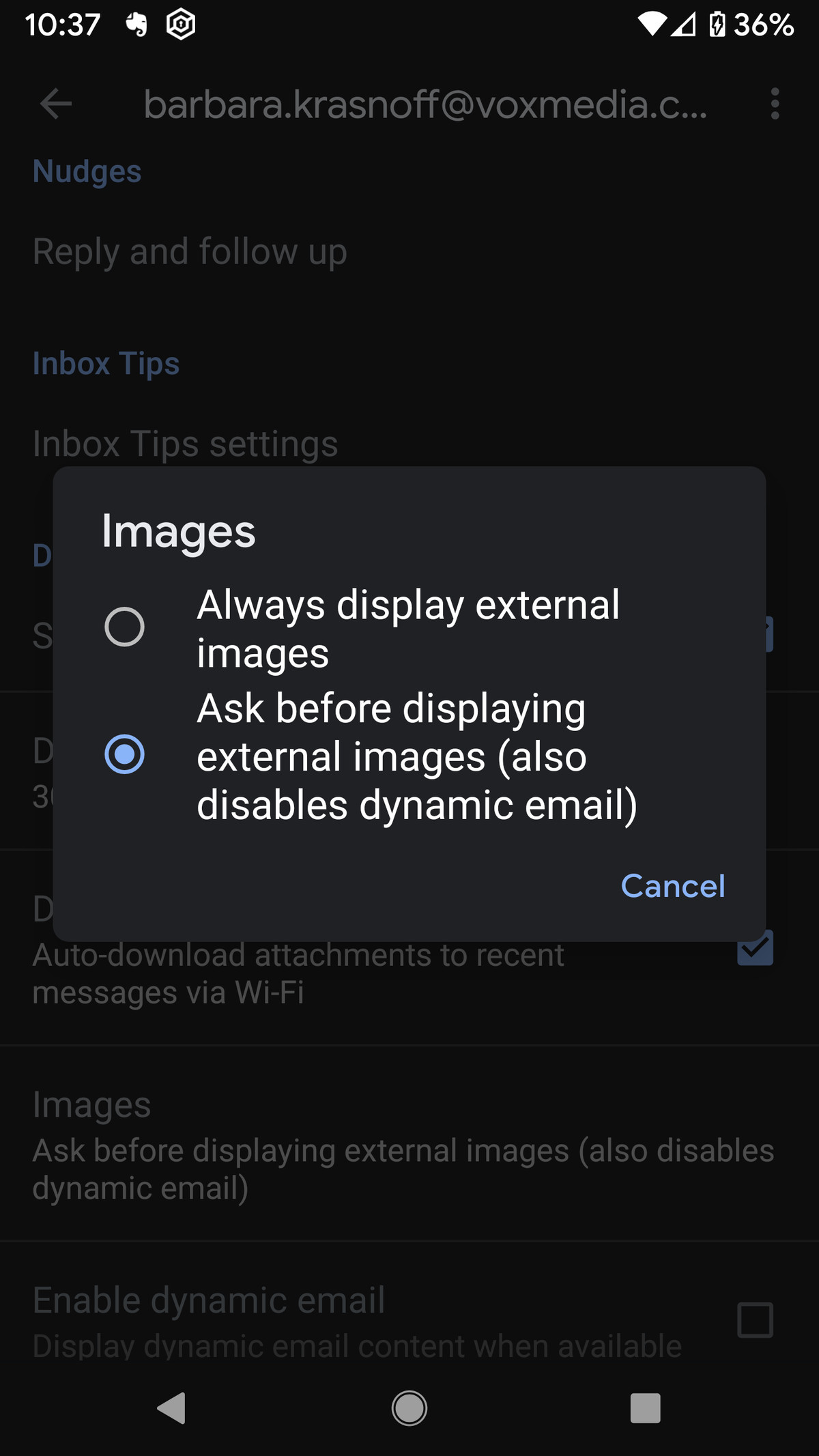 You can now disable the autoloading of images.
