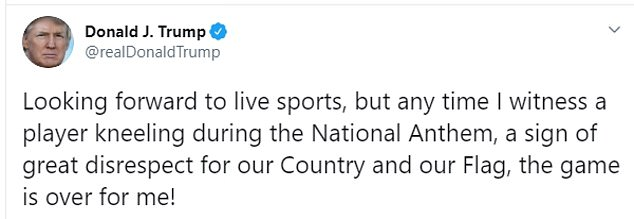 Beginning in September of 2017, when Donald Trump first seized upon the issue, the President has objected to players protesting during the anthem in no fewer than 30 tweets
