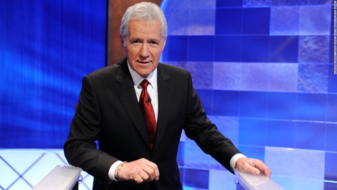 Alex Trebek (jokingly) indicates his Jeopardy successor: Betty White
