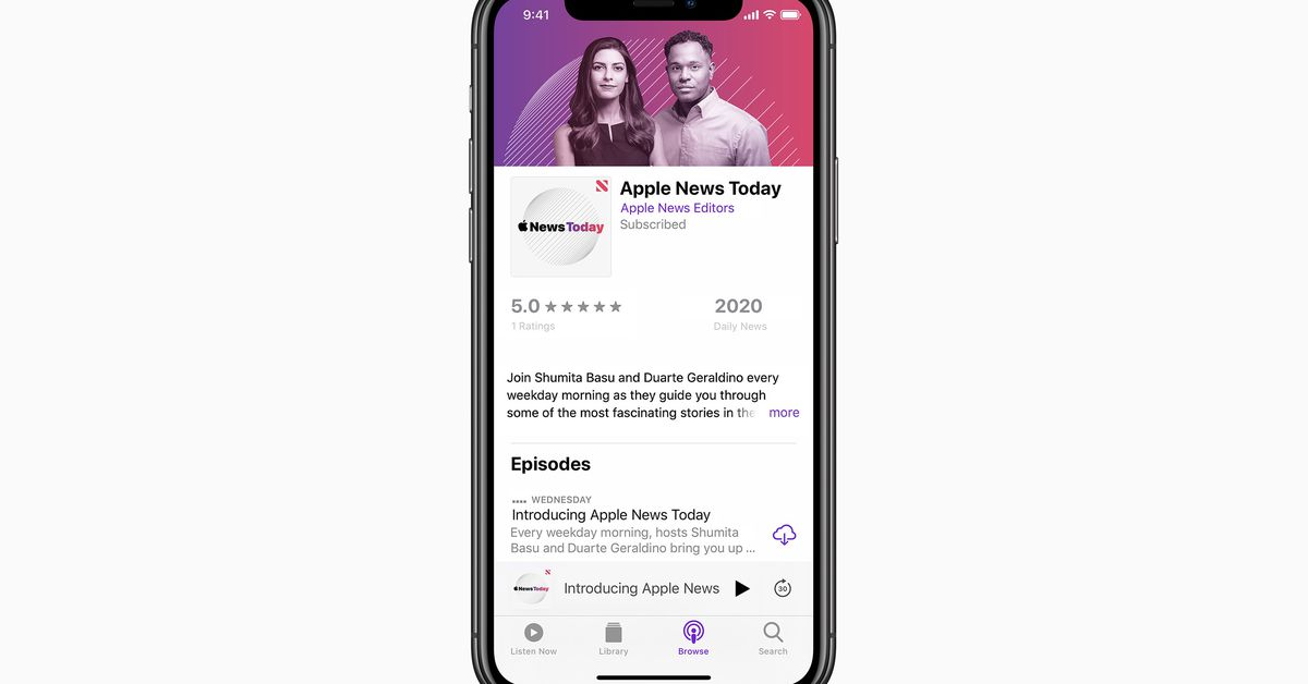 Apple is launching its possess daily news podcast to compete with The Each day and many others