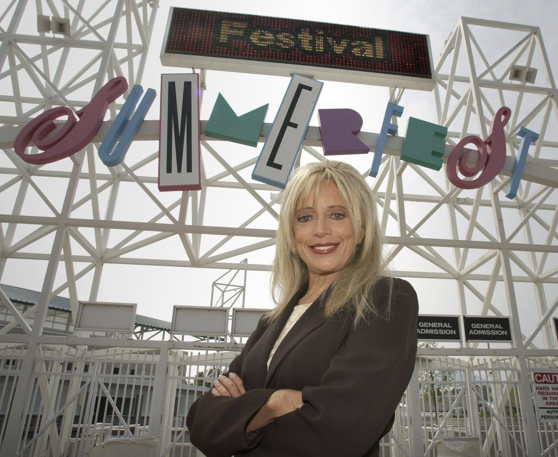 Bo Black, photographed June 13, 2003, at the north entrance of the Summerfest grounds.