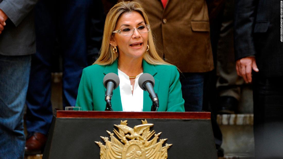Bolivia's stand-in president Jeanine Añez tests positive for coronavirus
