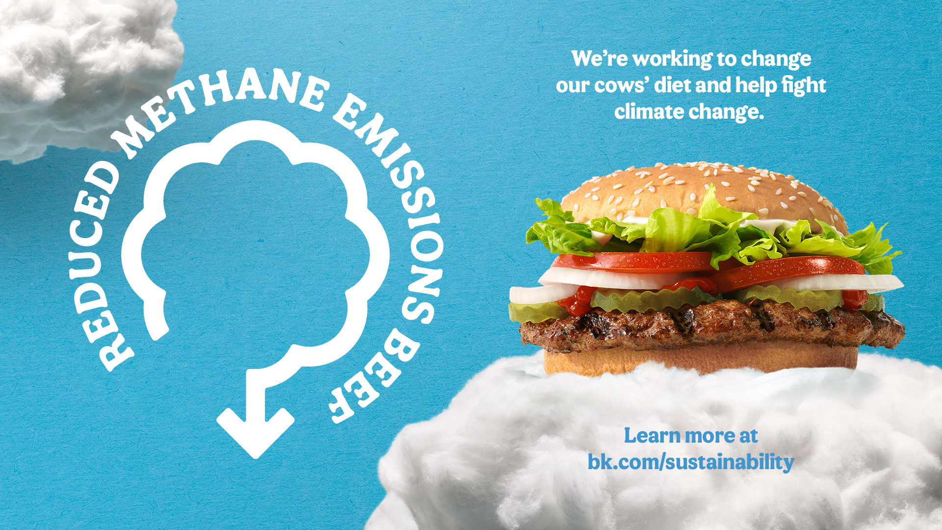Burger King is selling a burger made from cows on low-methane diet