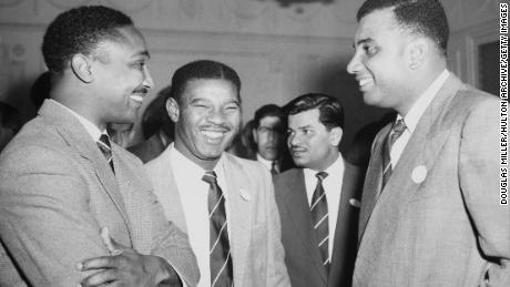 Left to right: Frank Worrell, Everton Weekes and Clyde Walcott seemed famous
