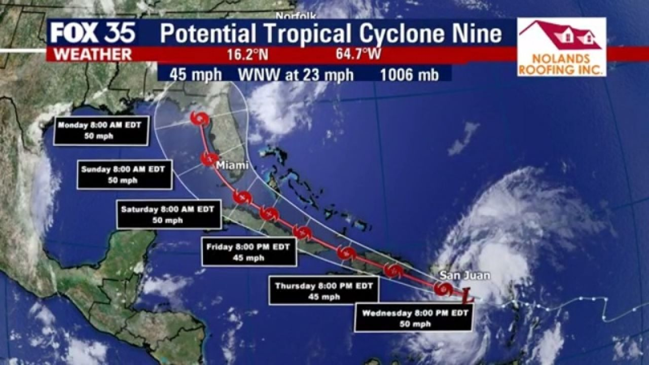 Florida stays in forecast cone of what could become Tropical Storm Isaias