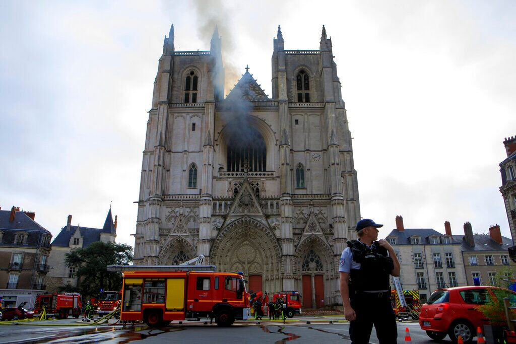 Hearth rips by 15th-century French cathedral, police contacting it a criminal act
