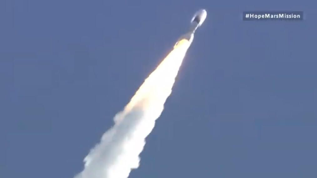 Hope Mars probe is headed for the crimson world following photo best launch