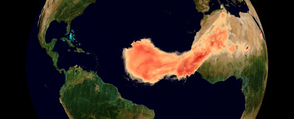 Incredible Sahara Dust Plume Sweeping Throughout The Atlantic Is Major on Record