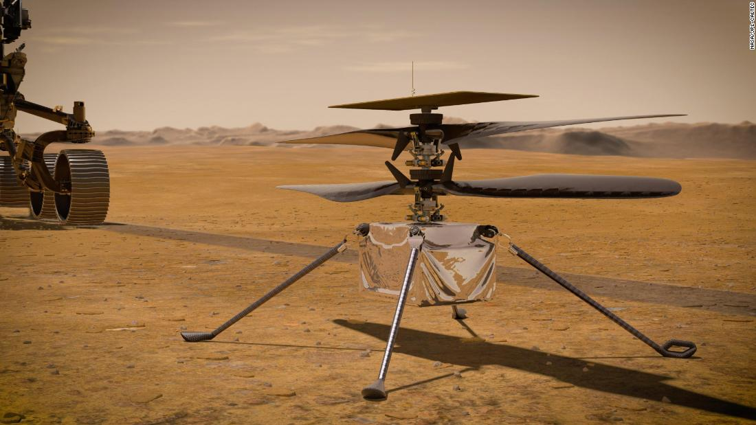 Ingenuity will be the initially helicopter to fly on Mars