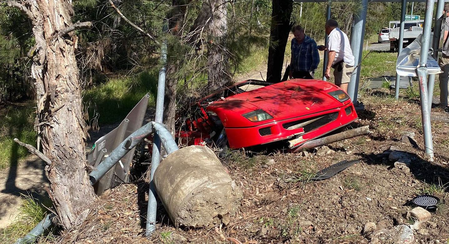 Intestine-Wrenching Carnage From A Not too long ago Wrecked $2.3M Ferrari F40