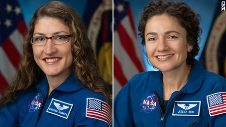 Astronauts Christina Koch and Jessica Meir are successfully completing their first space trip