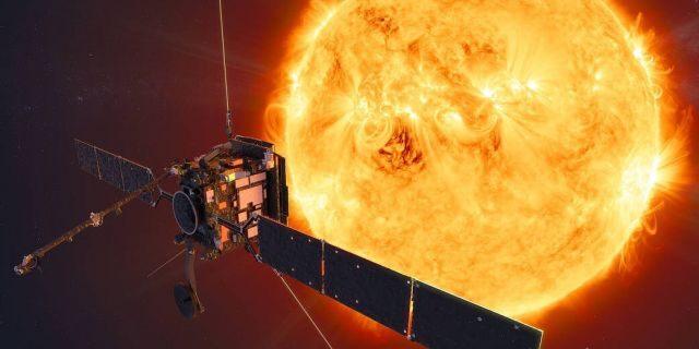 Illustration of the NASA/ESA Solar Orbiter.