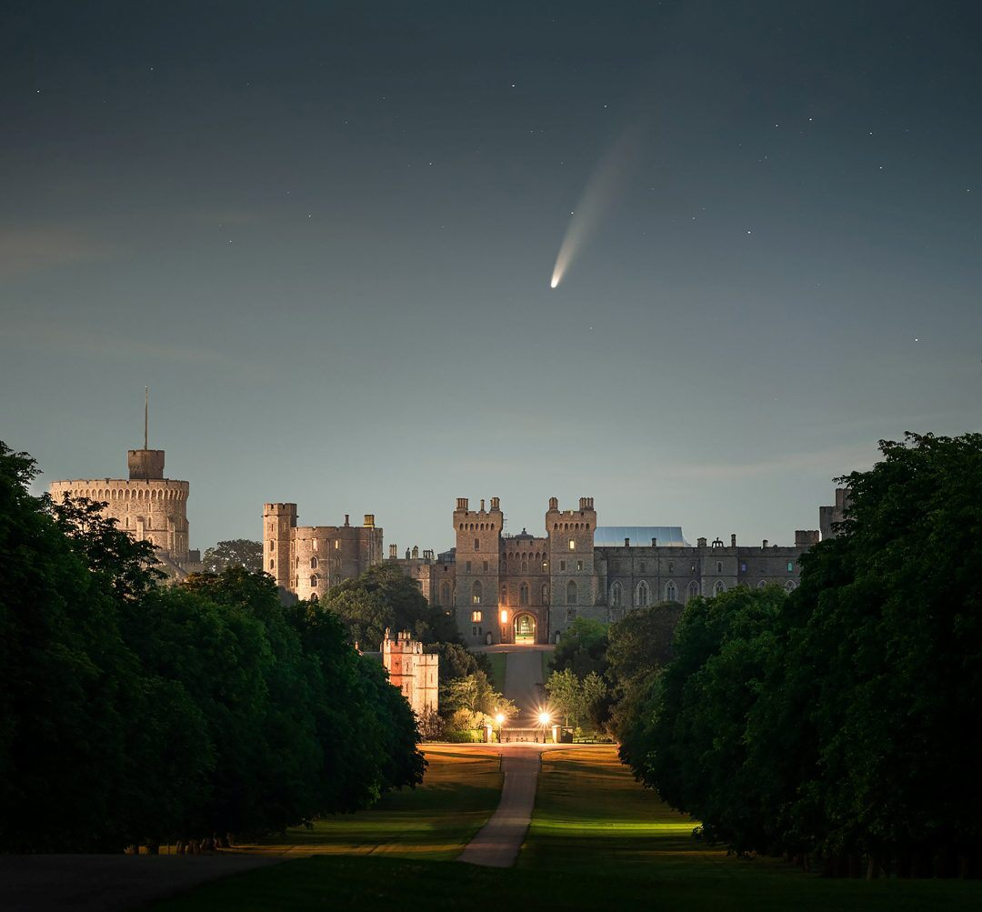 NEOWISE comet noticed above Windsor Castle in extraordinary photo