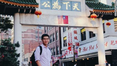 Tianyu Fang in the Chinese city of Boston. Fang graduated from high school in the Boston area.