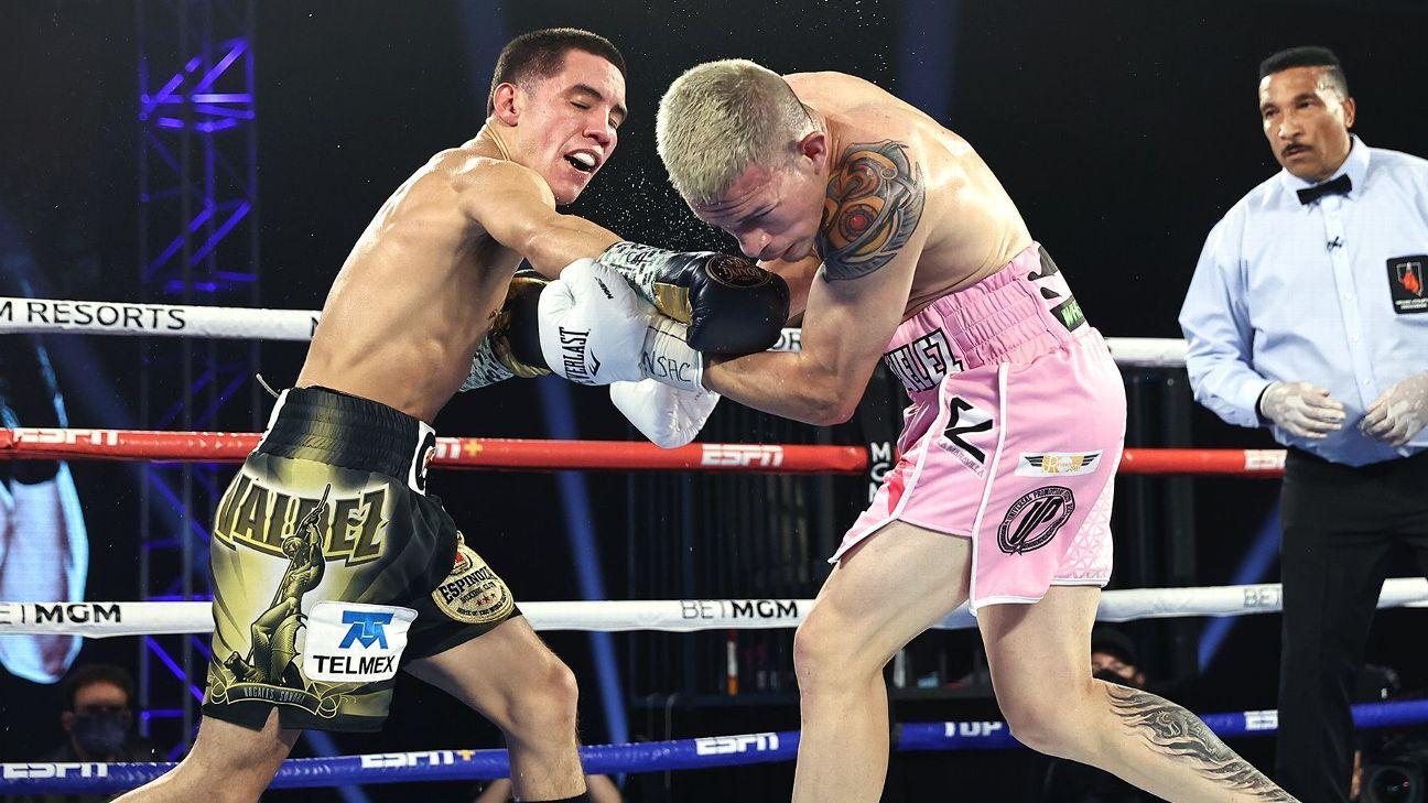 Oscar Valdez dominates Jayson Velez, Edgar Berlanga's KO streak continues