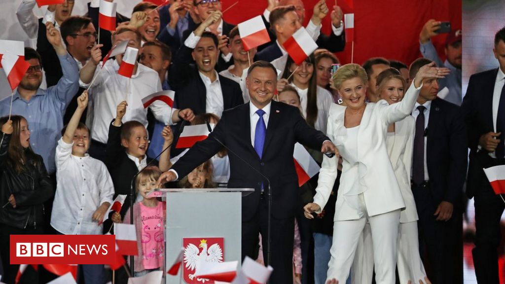 Poland's Duda retains slender guide in presidential election, exit poll implies