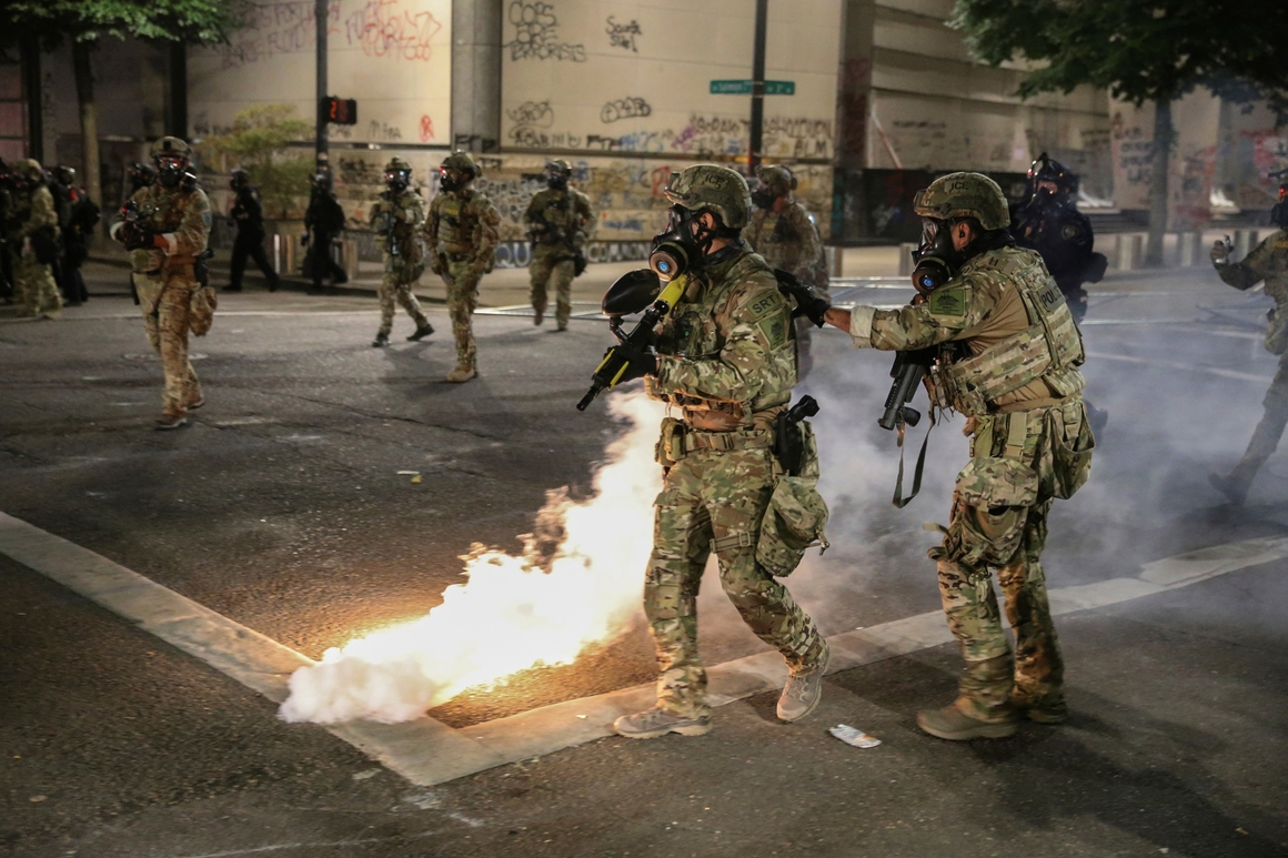 Police call Portland protest a riot
