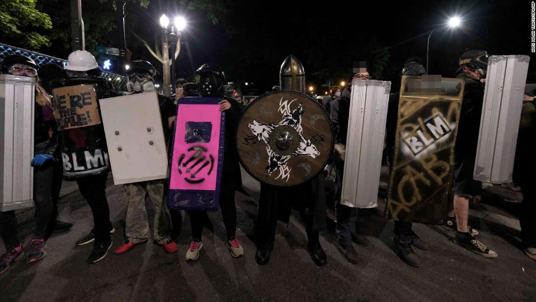 Portland protests: A number of arrested following law enforcement say they blocked buildings and threw projectiles
