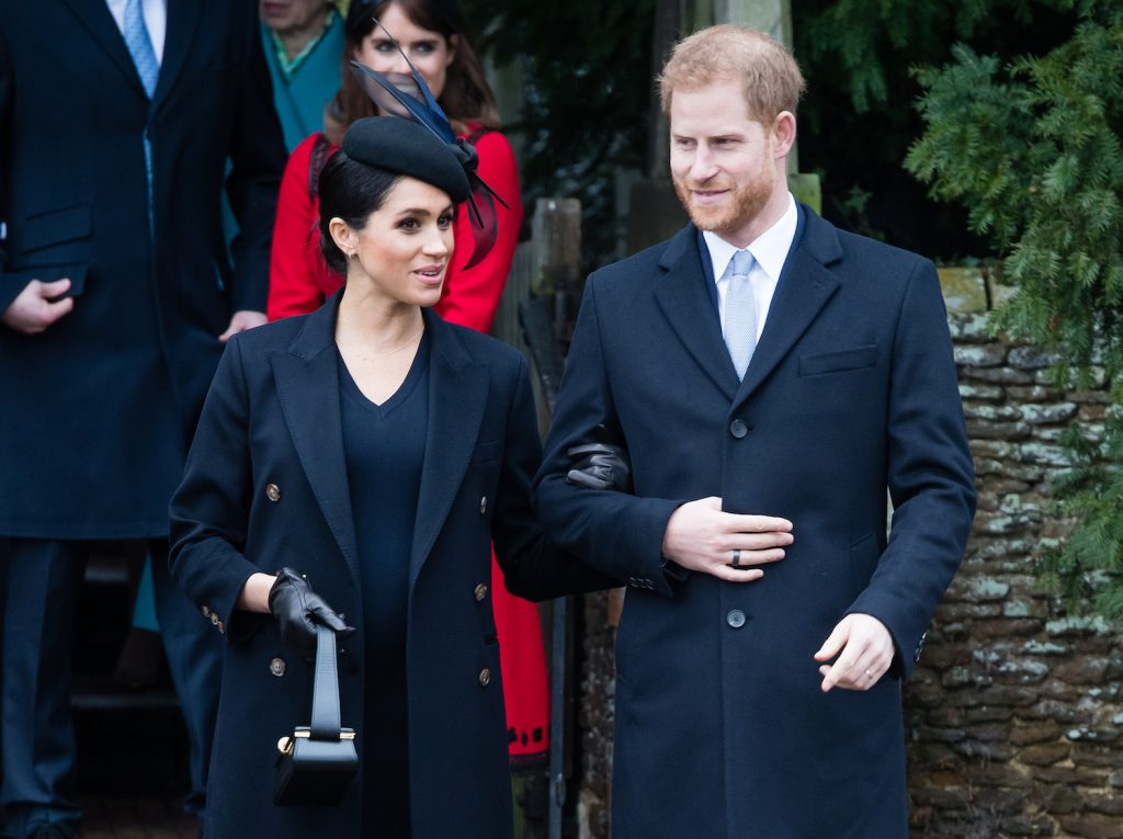 Meghan Markle and Prince Harry attend Christmas Day Church service at Church of St Mary Magdalene on the Sandringham estate