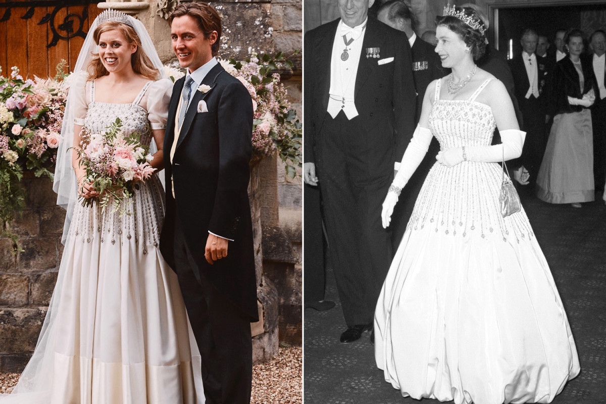 Princess Beatrice wore Queen Elizabeth's costume and tiara for private wedding day