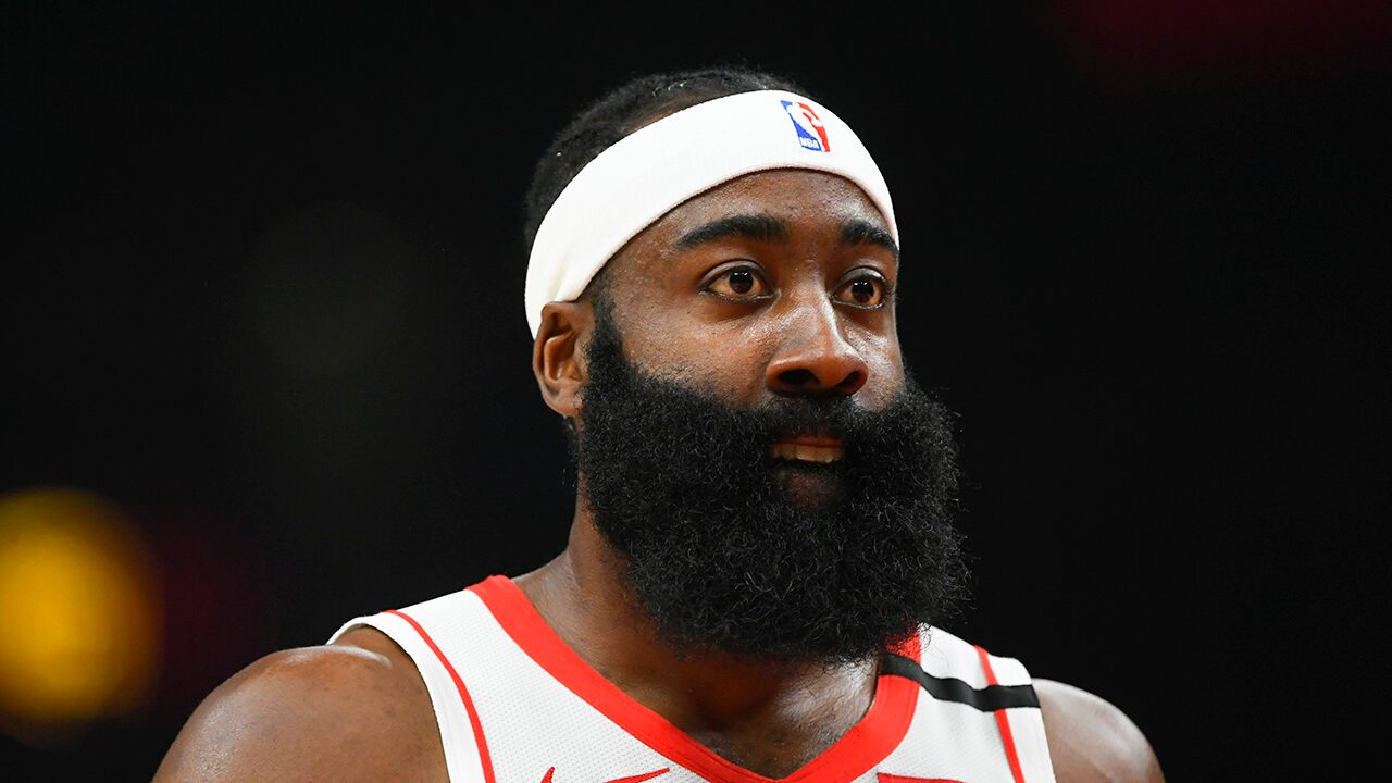 Rockets' James Harden criticized for donning 'Thin Blue Line' mask in return to NBA