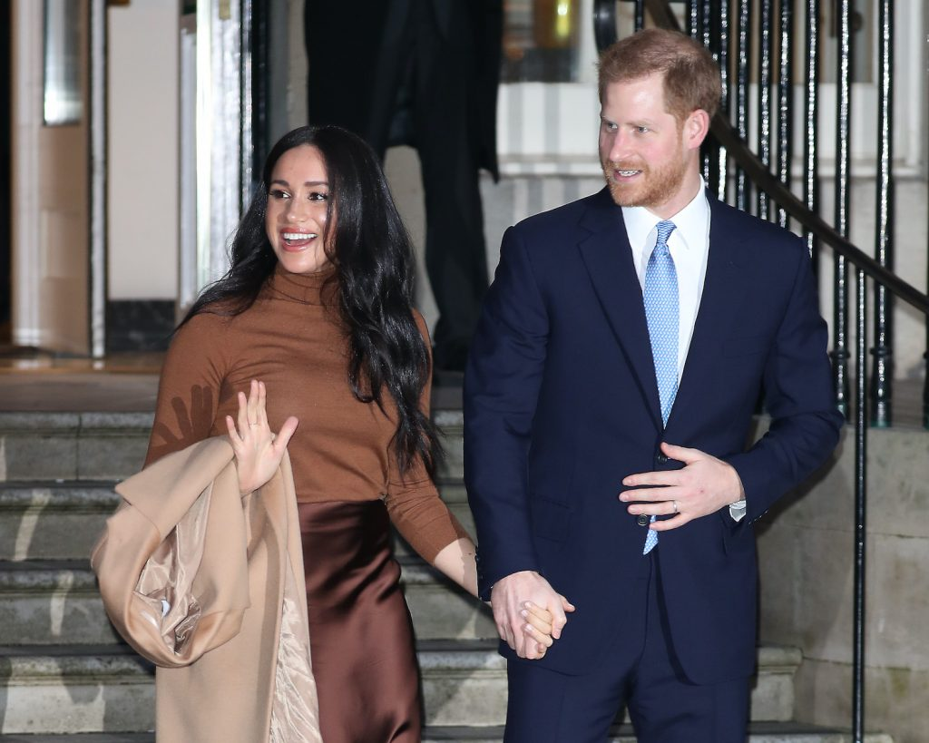 Prince Harry and Meghan Markle depart Canada House on January 07, 2020 in London, England