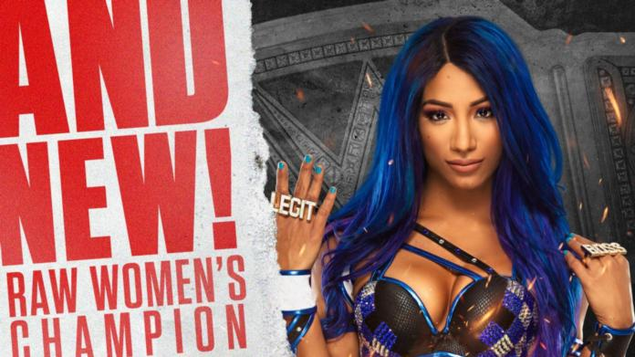 Sasha Banks Captures Raw Women's Title From Asuka Tonight (Images, Movies)
