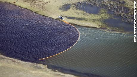 An oil tank built on the frozen soil collapsed in May, leading to a major spill in the region.
