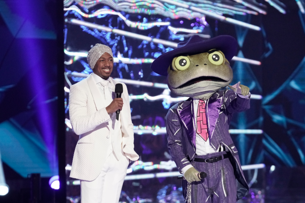Nick Cannon and The Frog in the all-new Couldnt Mask For Anything More: The Grand Finale! season finale episode of 'The Masked Singer'