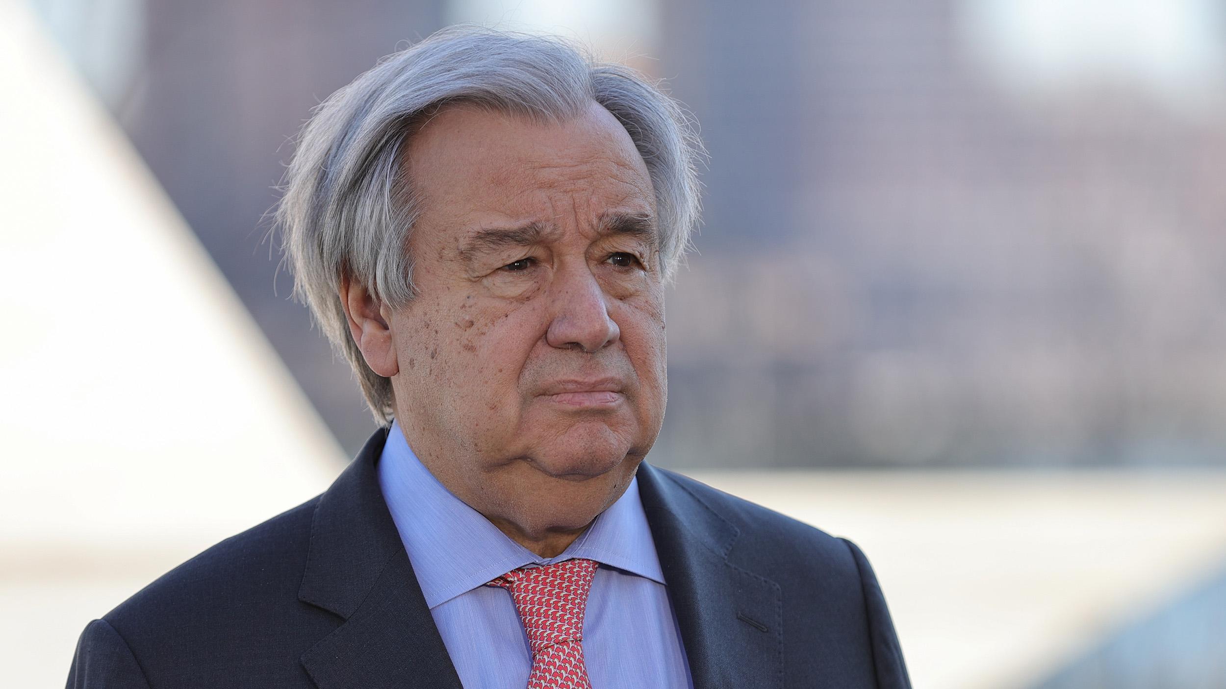 US Secretary General Antonio Guterres