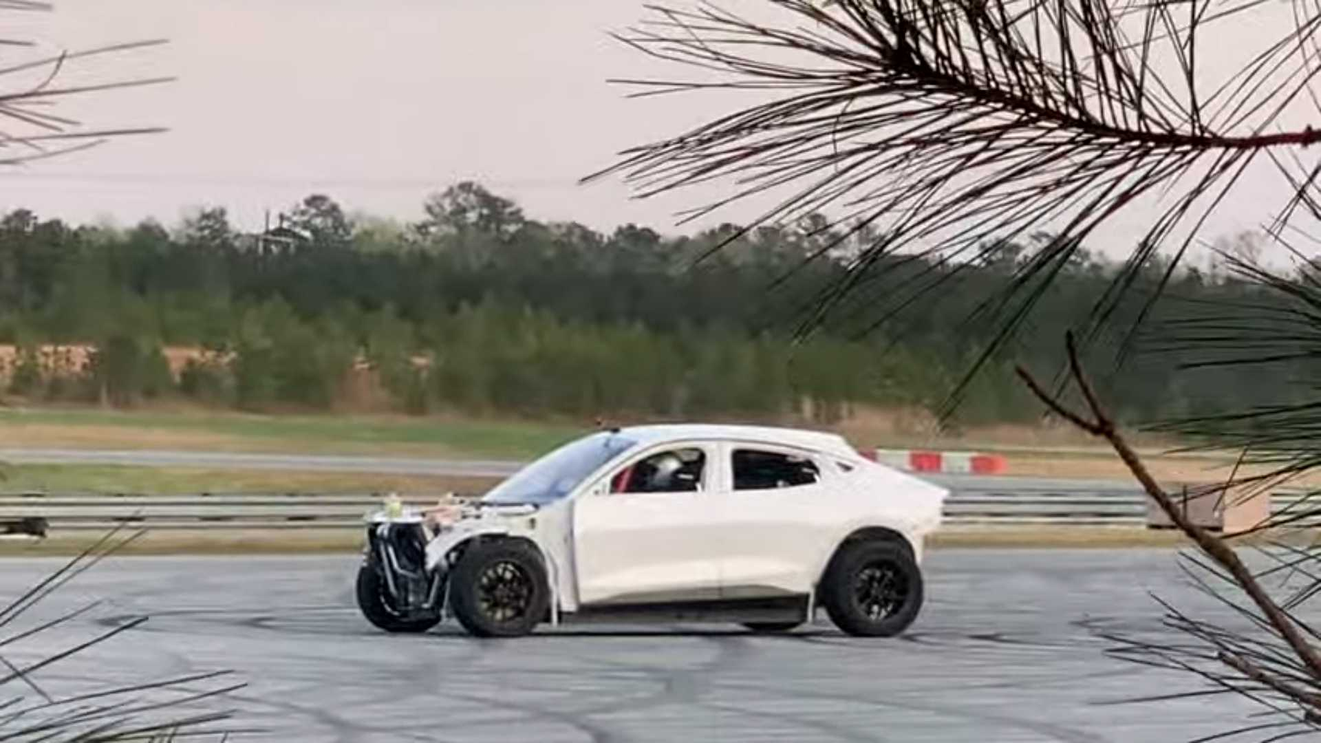 What Is Ford Executing In The Woods With This Outrageous Mustang Mach-E?