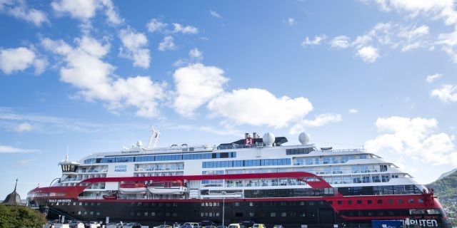 As the cruise ship line often acts as a local ferry, sailing from port to port along Norway's western coast, the viral disease may not have been contained aboard the cruise ship. (Terje Pedersen/NTB scanpix via AP)