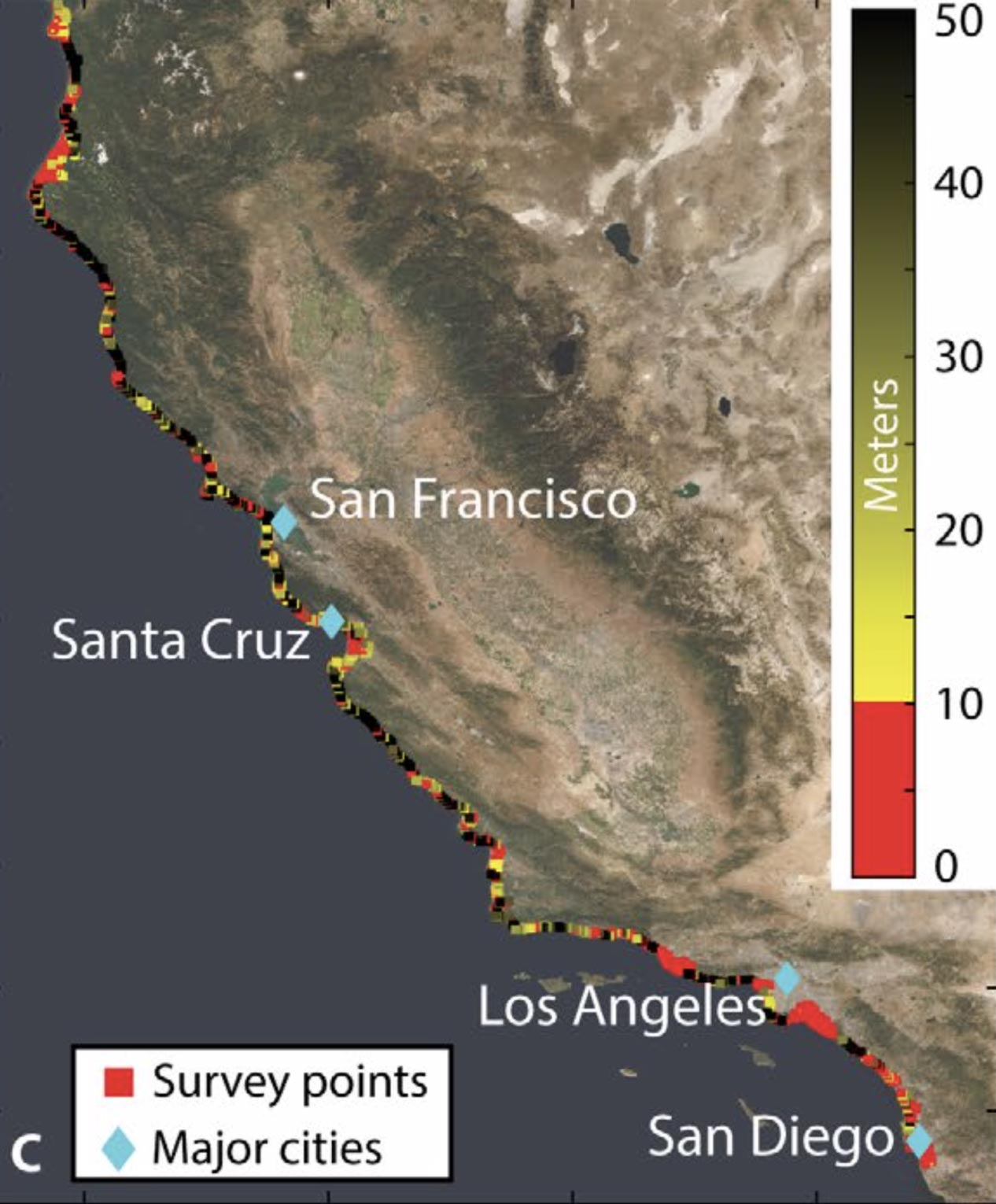 San Francisco, Monterey Bay, Los Angeles, and San Diego Majorly Affected