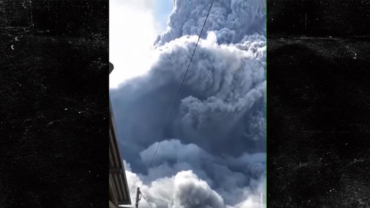 Indonesian Volcano, Mount Sinabung, Erupts & Shoots Ash 3 Miles High