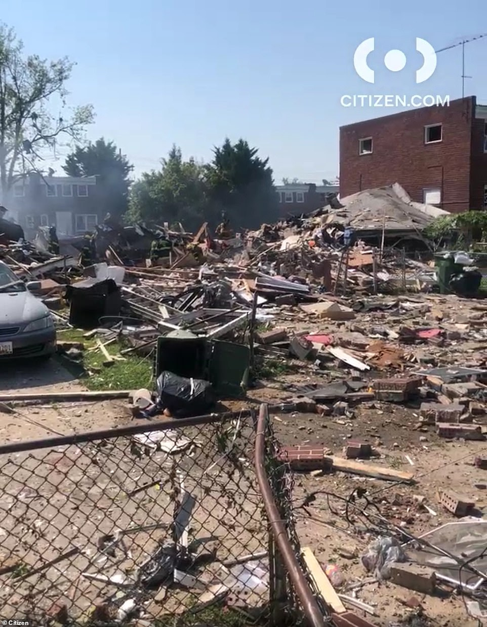 Horrifying images on social media show homes destroyed and reduced to rubble in the area