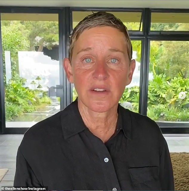 Shocking: Ellen DeGeneres, 62, continues to be hit by claims of a toxic work environment (pictured in June)