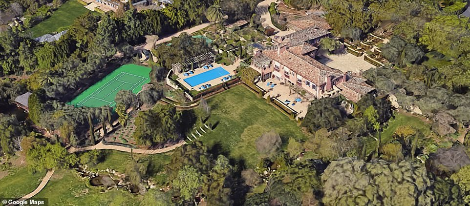 The sprawling estate sits on 5.4 acres