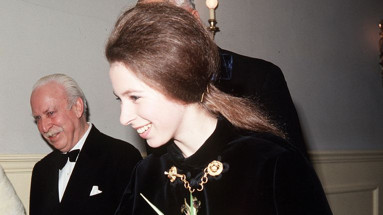 Princess Ann at the Royal Albert Hall in 1969
