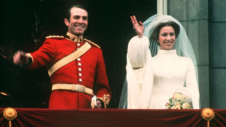 Princess Anne married captain Mark Phillips in 1973 before getting divorced in 1992
