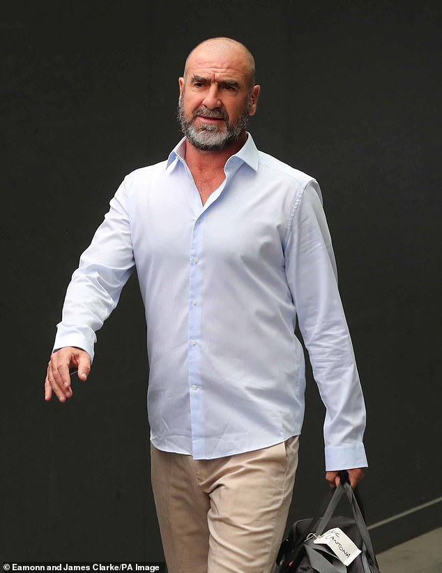 Iconic: Rounding out the reported names is former Manchester United star Eric Cantona, who was reportedly at the top of bosses wish list for this series