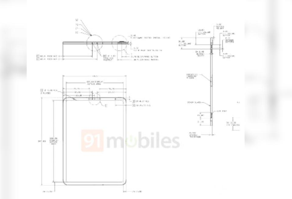 Alleged schematics of the upcoming iPad.