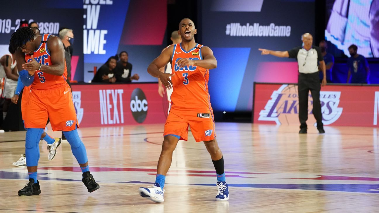 After shouldering blame for 2- gap, Chris Paul arrives by way of in clutch for Thunder