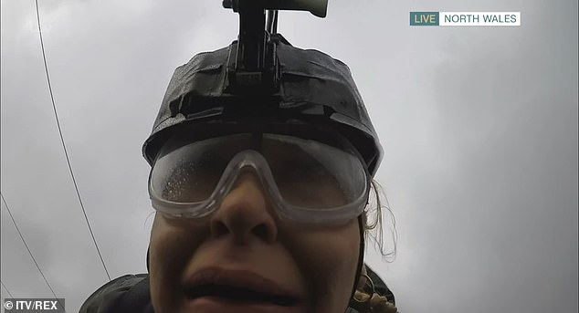 'I can't believe I'm alive': Josie Gibson screamed in terror as she was sent down the world's fastest zip-wire in hilarious This Morning segment on Friday