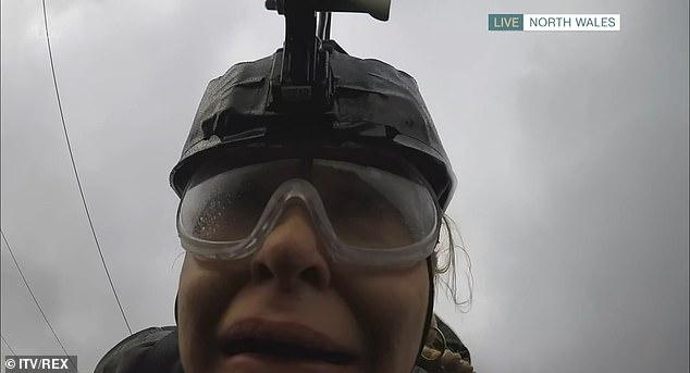 Josie Gibson screams as she utilizes world's fastest zip-wire