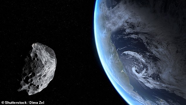 An asteroid the size of a car flew within 1,830 miles of the Earth this weekend ¿ but NASA astronomers did not spot it until after it had passed on by (stock image)
