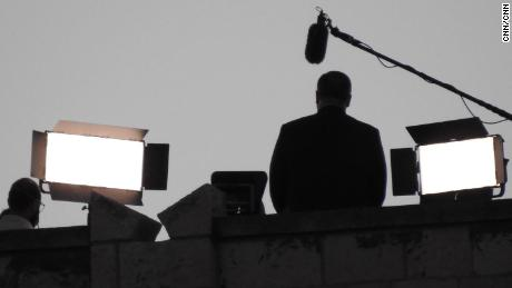 Secretary of State Mike Pompeo appeared to pre-tape his Republican National Convention speech from the rooftop of the King David Hotel in Jerusalem on Monday.
