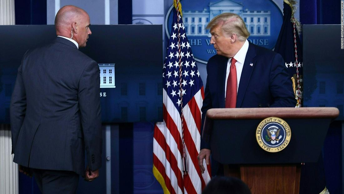 Trump briefly leaves push briefing right after capturing near the White Dwelling