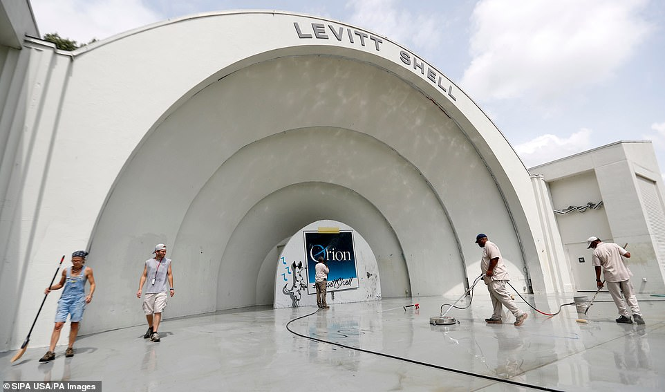 "Vandals also hit the Levitt Shell concert venue in Overton Park, spraying lewd phrases, including ¿F *** TRUMP"" And ¿F *** STRICKLAND, a reference to Memphis Mayor Jim Strickland, plus ¿EAT THE RICH¿ and other phrases"