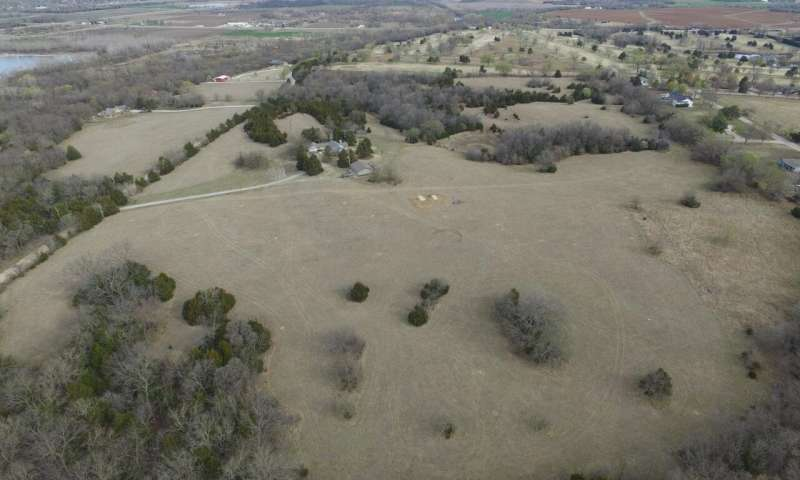 A drone survey revealed significant excavation at the ancestral site of Wichita, Kansas